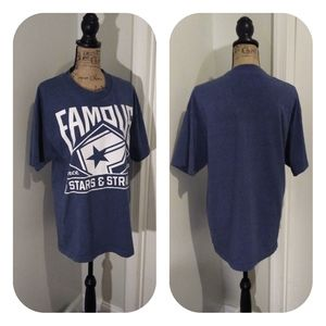 Famous stars and straps blue tee